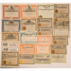 Manhattan, Nevada Mining Stock Group With Some Rare Ones (23)  (111686)