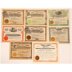 Manhattan, Nevada Mining Stock Group, Rare (8)  (111660)