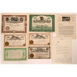 Ramsey, Nevada Stock Group (6) With Pictorial Letterhead  (110213)