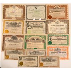 Tonopah Divide District Stock Certificates- Group 1  (111002)