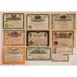 Tonopah, Nevada Stock Certificate Group #2  (111039)
