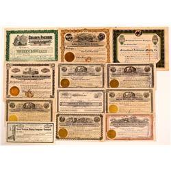 Tonopah, Nevada Stock Certificate Group #5  (111042)