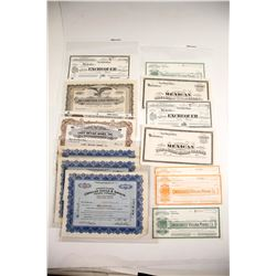 Comstock Stock Certificates (13 count) most unissued  (61757)