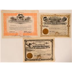 Three Ward, White Pine County, Nevada Mining Stocks  (105945)