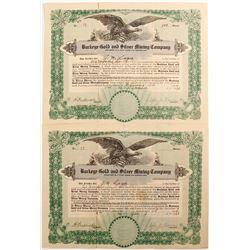 Buckeye Gold & Silver Mining Co. Stock Certificates  (76909)