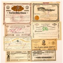 Group of Western Mining Stock Certificates  (117188)
