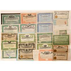 Lot of 22 Nevada Mining Stock Certificates  (118851)