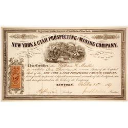 New York & Utah Prospecting and Mining Co Stock  (58914)