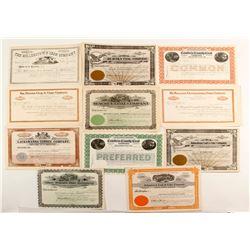 Eleven Unissued Pennsylvania Coal Company Certificates  (87268)