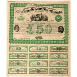 Great Republic Gold & Silver Mining Co. Bond  (118053)