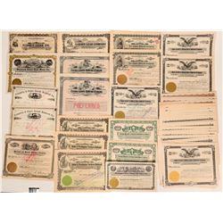 Oregon, Washington & Idaho Railroad and Mining stocks- SPECIAL LOT  (117874)