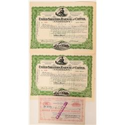 Wyoming Mining & Railroad Companies Stock Certificates  (117509)