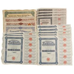 A Variety of Foreign Mine Bond Certificates (Northern Africa)  (81820)