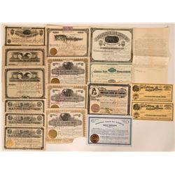 Seventeen Mining Industrial Stock Certificates  (118031)
