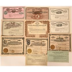 Western States Stock Certificates  (118043)