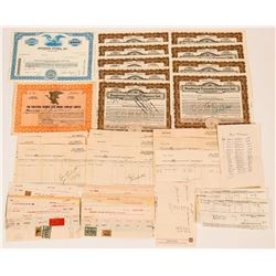 Stocks, Stock Transfers with Revenue Stamps and Mining Buy Orders  (117338)