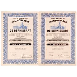 Societe Anonyme Des De Bernissart (Coal Mining Company Bond Certificates)  (81817)