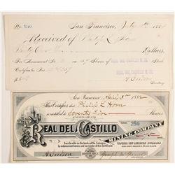 Real del Castillo Mining Company - Mexican stock certificate  (89817)
