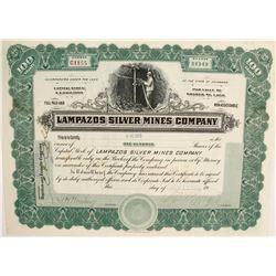 Stock Cert. Lampazos Silver Mines Company  (77948)