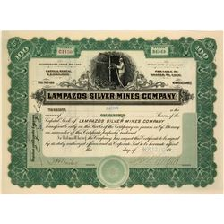 Stock Certificate for the Lampazos Silver Mines Company  (116866)