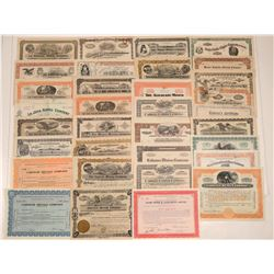 Mexican Mining Stock Certificate Collection (30+)  (106732)