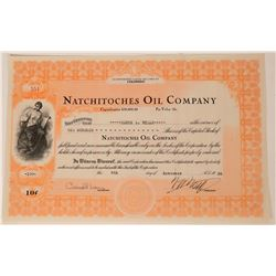 Natchitoches Oil Company Stock, Fancy Colorado Oil  (111821)