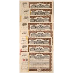 Bank of Manitou (Colorado) Stock Certificates  (116136)