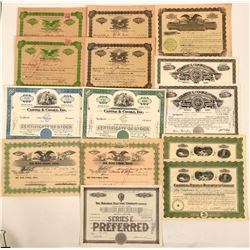 Hawaii Stock Certificate Group  (115886)