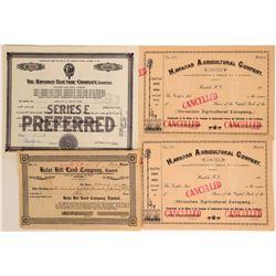 Hawaiian Stock Certificates  (115998)