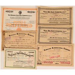 Various Hawaiian Stocks  (117512)