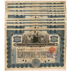 Ten Telegraph Company Stock Certificates  (118044)