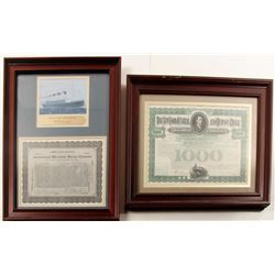 International Mercantile Maritime Co. (Titanic) and New York Central Railroad Bond (2)  (76648)