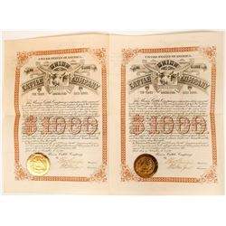 Two Union Cattle Company Gold Bonds  (117360)
