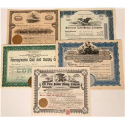 American Industrial Stock Certificate Group (5)  (111820)