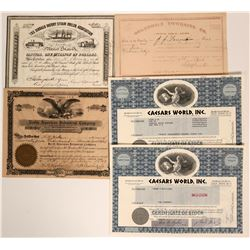 Various Stock Certificates  (Prag Collection)  (116998)