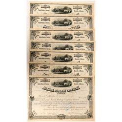 Sonora Railway Company Stock Certificates  (117491)