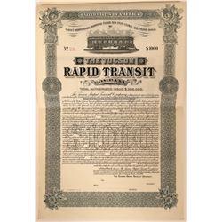 Territory of Arizona Tucson Rapid Transit Co. Bond  (118030)