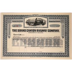 Grand Canyon Railway Company Stock Certificate  (107542)