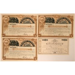 Four Los Angeles Area Railroad Stock Certificates  (117389)