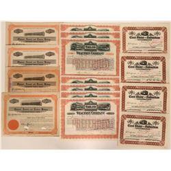 Fifteen Oakland Railroad Stock Certificates  (117233)
