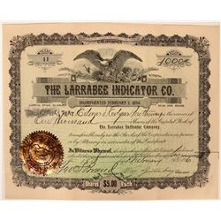 Larrabee Indicator Company Railroad Stock  (119427)