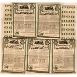Five Yosemite Short Line Railway Company Bonds  (117237)