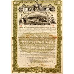 Colorado Midland Railway Company Bond  (52308)