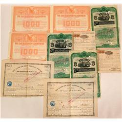 Connecticut Railroad Bonds (4) & Stocks (7)  (115927)