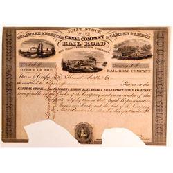 Delaware & Raritan Canal Co / Camden & Amboy Rail Road & Transportation Co.- 1836  (111047)