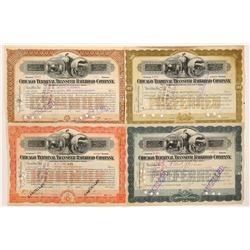 Chicago Terminal Transfer Railroad Co. Stock Certificates (Lot of 4)  (106131)