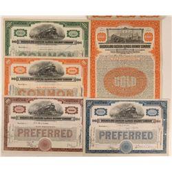 Chicago & Eastern Illinois Railway Co Stocks & Bonds (5)  (111314)