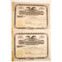 Paducah & Illinois Railroad Company Stock Certificates  (79622)