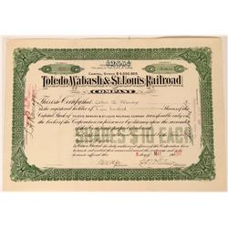 Toledo, Wabash & St. Louis Railroad Co Stock Certificate, 1907  (111827)