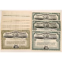 Boston & Albany Rail Road Company Stock Certs  (117212)